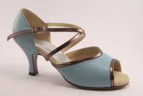 women's open-toe tango and ballroom dance shoe - aqua