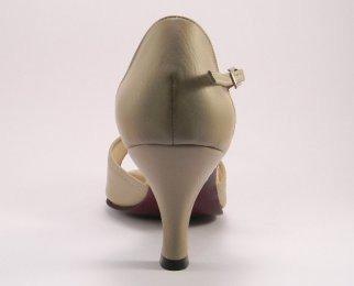 women's open-toe tango shoe and ballroom shoe heel