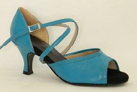 women's open-toe tango and ballroom dance shoe - turquoise