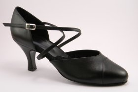 women's closed-toe tango shoe and ballroom shoe - black