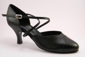 women's closed-toe tango shoe and ballroom shoe - black