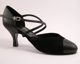 women's closed-toe tango shoe and ballroom shoe 2 1/2 inch heel