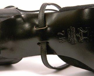 women's closed-toe tango shoe and ballroom shoe strap system