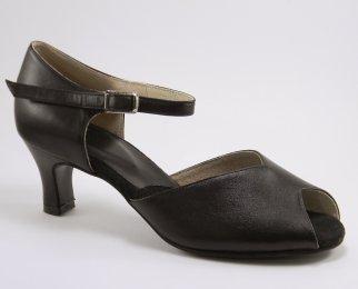 women's peep-toe tango shoe and ballroom shoe 2 inch heel