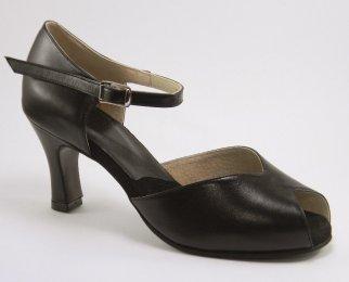 women's peep-toe tango shoe and ballroom dance shoe 2 3/4 inch heel