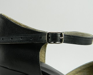 women's peep-toe tango shoe and ballroom shoe slide buckle