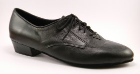 men's oxford tango shoe and ballroom shoe with boot heel