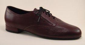 men's oxford tango shoe and ballroom shoe - burgundy