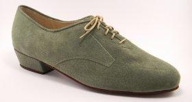 men's oxford tango shoe and ballroom shoe - jade suede