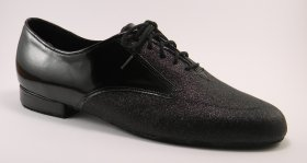 men's oxford tango shoe and ballroom shoe - patent and sparkle