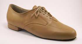 men's oxford tango shoe and ballroom shoe - suntan