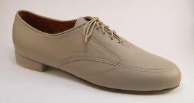 men's oxford tango shoe and ballroom shoe - taupe