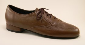 men's oxford tango shoe and ballroom shoe - medium brown