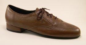 men's oxford tango shoe and ballroom shoe - medium brown