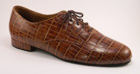 men's oxford tango shoe and ballroom shoe - brown tortoise