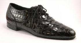 men's wingtip tango shoe and ballroom shoe - black croc