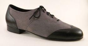 men's wingtip tango and ballroom dance shoe - black and grey