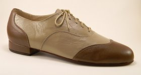 men's wingtip tango shoe and ballroom shoe - dark taupe