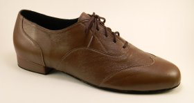 men's wingtip tango and ballroom dance shoe brown