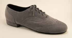 men's wingtip tango and ballroom dance shoe - grey suede