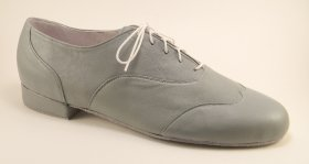 men's wingtip tango and ballroom dance shoe grey