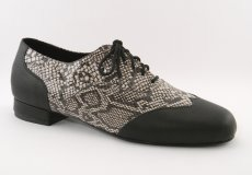 men's wingtip tango shoe and ballroom shoe - python