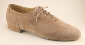 men's wingtip tango and ballroom dance shoe - taupe suede