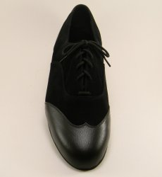 mens wingtip tango shoe and ballroom shoe - top view