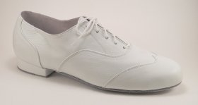 men's wingtip tango shoe and ballroom shoe - white