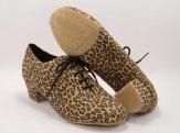 women's split-sole ballroom practice shoe leopard