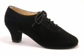 women's oxford tango shoe and ballroom shoe - black suede