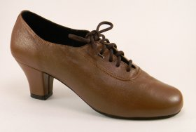 women's oxford tango shoe and ballroom shoe - medium brown