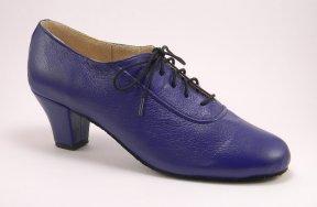 women's oxford tango shoe and ballroom shoe - royal blue
