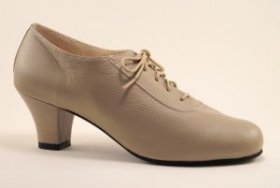 women's oxford tango shoe and ballroom shoe - dark taupe