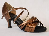 women's open-toe tango shoe and ballroom shoe bronze