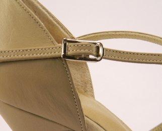women's open-toe tango shoe and ballroom shoe slide buckle