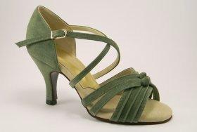 women's open-toe tango shoes and ballroom shoe - jade