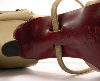 women's open-toe tango shoe and ballroom shoe strap system