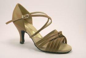 women's open-toe tango shoe and ballroom shoe - suntan