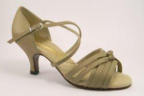 women's open-toe tango shoes and ballroom shoe - tan